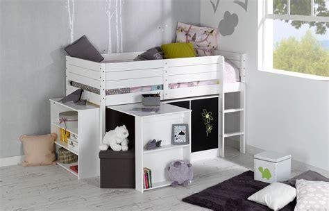 bureau de lit set complet enfant paraiso blanc idkid 39 s