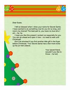 secret santa letter church With secret santa email template