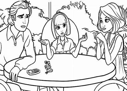 Talking Coloring Parents Pages Barbie Vanessa Thumbelina