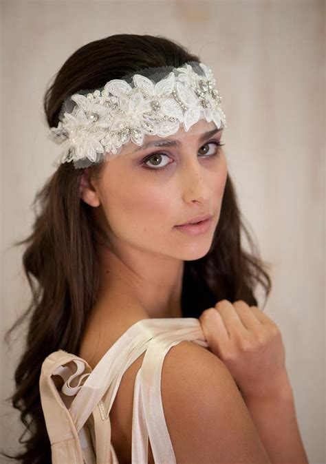 diy bridal hair band ivory bridal hair accessories headband bridal tiara wedding headband vintage wedding lace