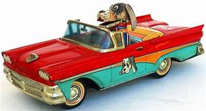 Alps Happy Pup Friction Car Tin Toy From 50s Ebay