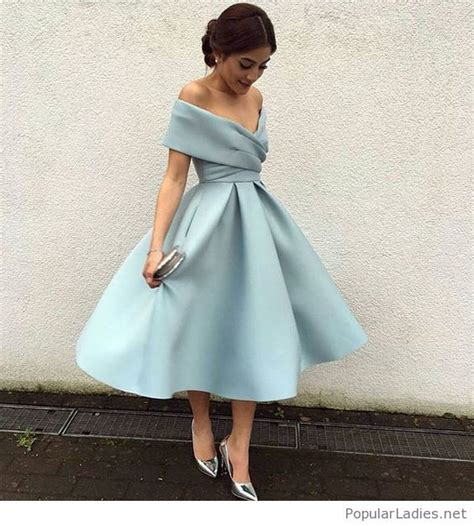 light blue vintage dress light blue vintage dress style with silver accessories