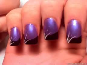 Purple nail design designs art