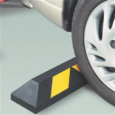 Garage Floor Tire Stops by Parking Blocks Car Stops Curbs Bumpers Plastic Rubber
