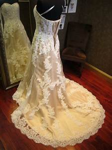 champagne wedding dress with ivory lace by With champagne wedding dress with ivory lace overlay