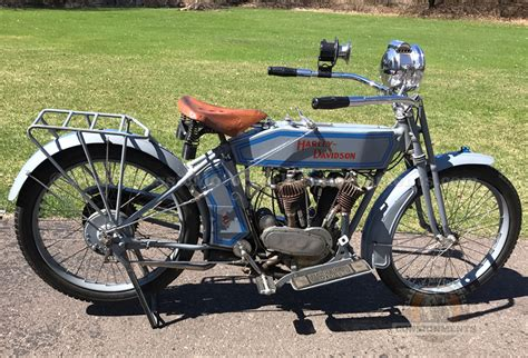 1914 Harley Davidson Twin Motorcycle Model 10f  For Sale