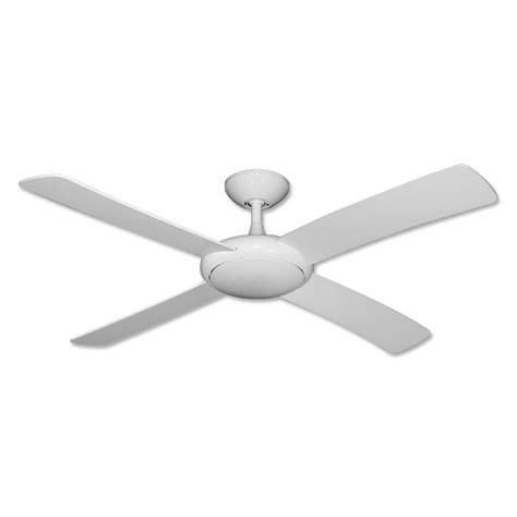 White Ceiling Fan No Light Fanimation Aire Decor Builder