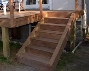 Escalier Terrasse Bois : escalier en bois exotique pour ma terrasse deck ~ Nature-et-papiers.com Idées de Décoration