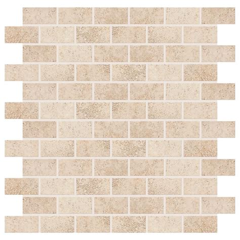 2x8 subway tile daltile daltile briton bone 12 in x 12 in x 8 mm ceramic mosaic