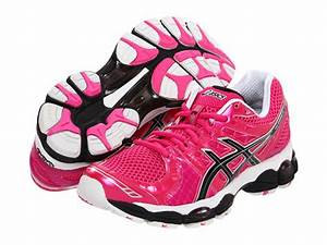 ASICS GEL Nimbus 14 Neon Pink Black White Running Shoe for