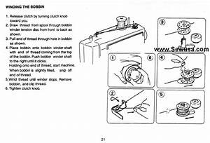 Euro Pro 1260 Sewing Machine Threading Diagram