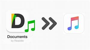 How to transfer downloaded music from documents 5 app to for Documents 6 music