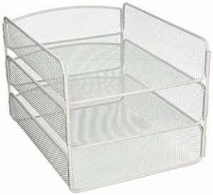 safco products 3271wh onyx mesh desktop organizer with With white mesh letter tray