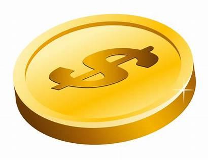 Coin Coins Clipart Gold Clip Money Transparent
