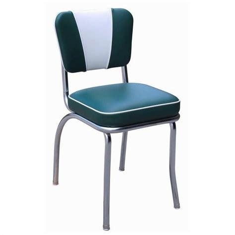 richardson seating retro 1950s v back chrome diner dining