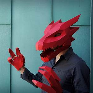 Dragon Mask V2 Make Your Own Card Mask With This Simple PDF