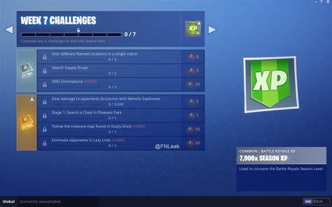 fortnite week 7 challenges fortnite season 5 week 7 leaked challenges new stage