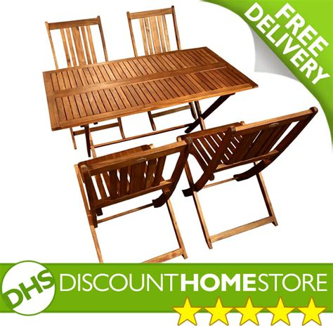 outdoor rectangular table and chairs rectangular 4 seater garden folding table and chairs set