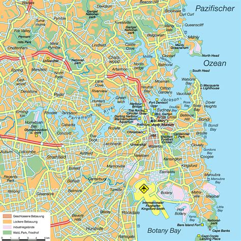 Map of Sydney (City in Australia) | Welt-Atlas.de