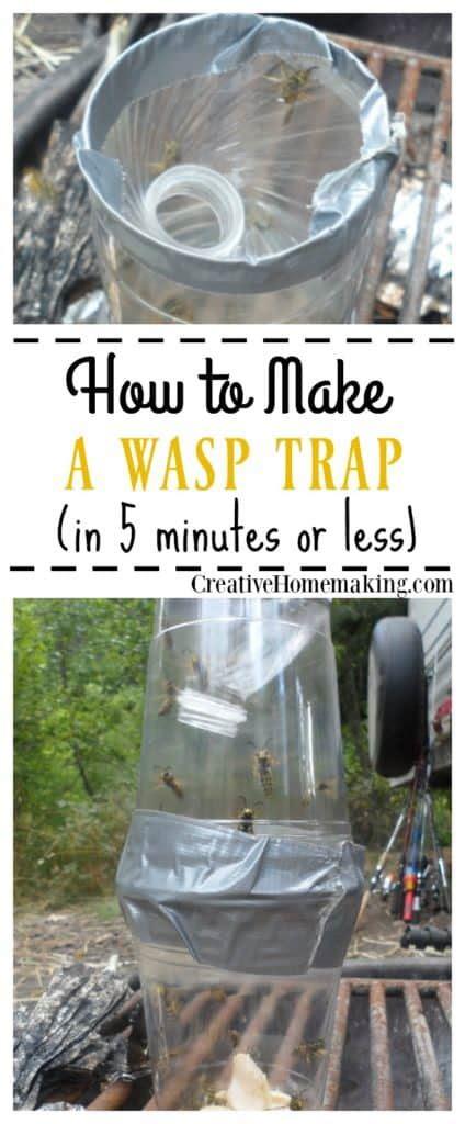 homemade wasp trap creative homemaking