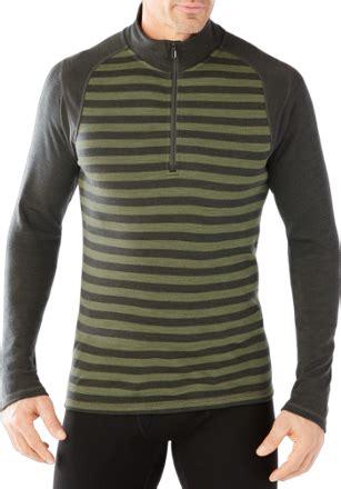 smartwool merino  pattern quarter zip base layer top