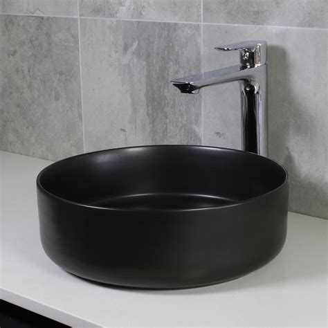eden bench mount basin matte black highgrove bathrooms