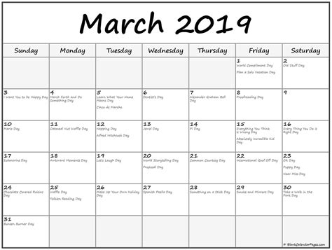 holidays calendar march  marchcalendar