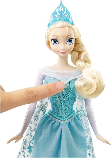 Amazoncom Disney Mattel Frozen Singing Elsa Doll Toys