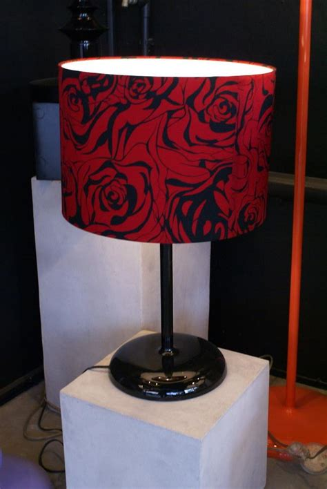 red and black l shade l table top black red rose shade export bay