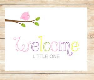 Welcome Baby Girl Cards Printable