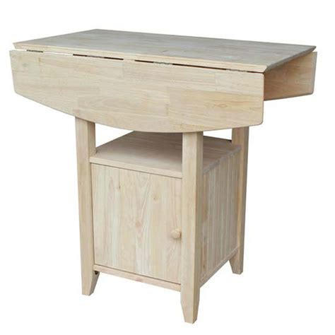 drop leaf kitchen table with storage dual drop leaf bistro table with storage by international 9627