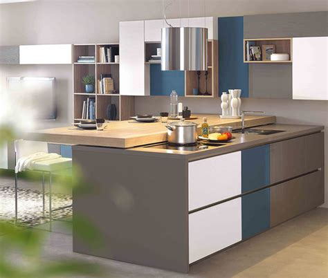 cuisine moderne avec 238 lot central ambiance patchwork mobalpa