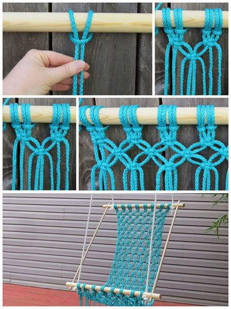 diy macrame hammock chair how to diy macrame hammock chair stylesidea Diy Macrame Hammock Chair