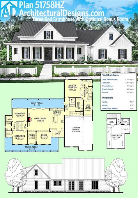plan hz  bed farmhouse  optional bonus room bonus rooms room  house