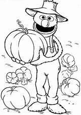 Coloring Grover Colouring Sesame Cartoon Printable Halloween Printables Thanksgiving Popular Templates Library Template sketch template