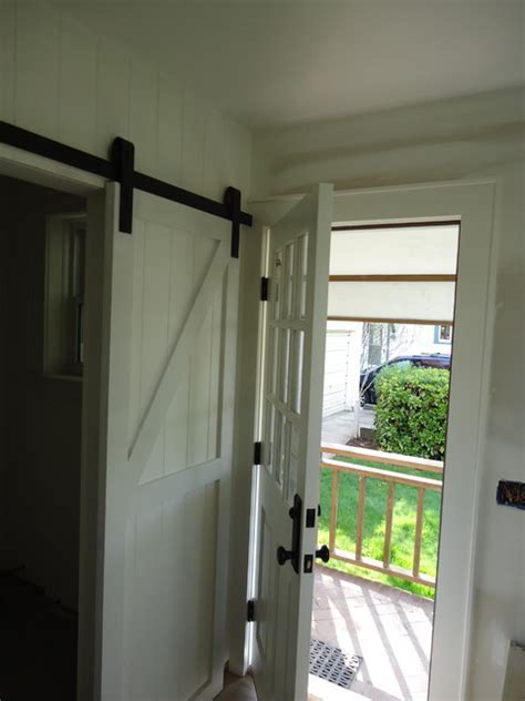 Barn Door for the powder room   Powder Room   new york