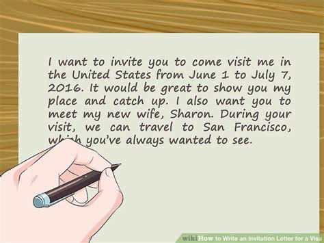 write  invitation letter   visa  steps