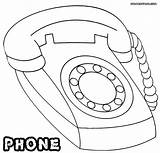 Phone Coloring Pages Colouring sketch template