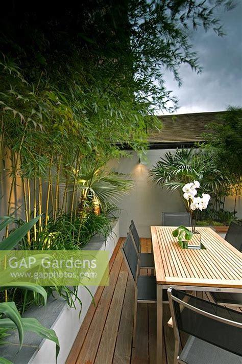 gap gardens small urban courtyard garden bamboo