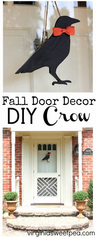 Door Decorations Fall Crow Virginiasweetpea Spring Projects
