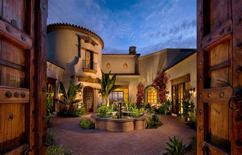 mediterranean house plans revival italian courtyard french style plan central fresh simple