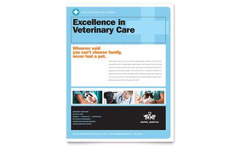 animal hospital flyer template word publisher