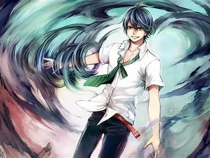 Anime Wind Male Backgrounds Smile Guy Cool