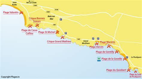 Carte De Plage Atlantique by Plage De Michel Batz Sur Mer 44 Loire Atlantique