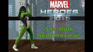 Marvel Heroes: She-Hulk Skill Preview - YouTube