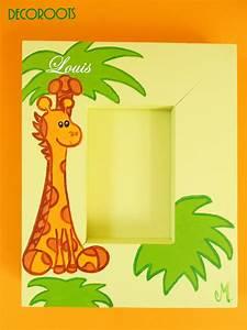 Cadre Deco Enfant : cadre photo b b girafe en bois collection jungle personnalis enfant b b objet d coratif ~ Teatrodelosmanantiales.com Idées de Décoration