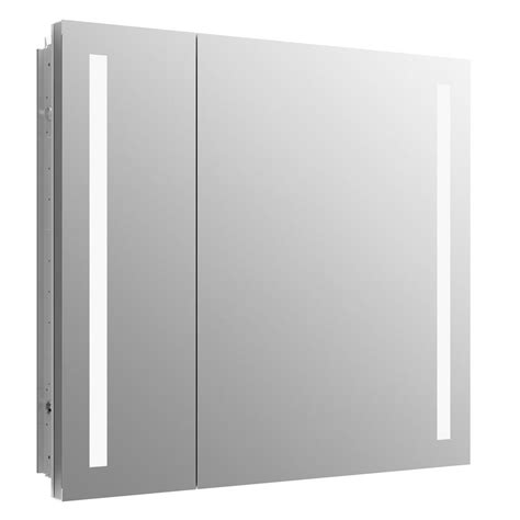 recessed mount medicine cabinet kohler verdera 34 in x 30 in recessed or surface mount