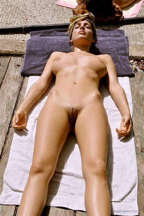 Busty Babe Muriel Loves To Tan Nude Nextdoor Mania