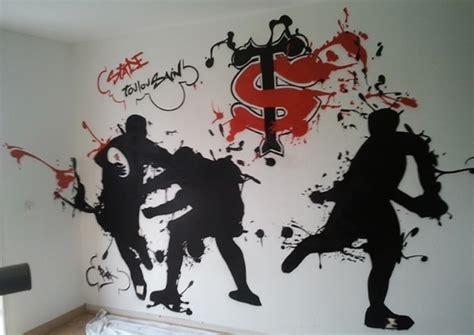 graffiti chambre ado décoration chambre graff sur le thème du stade toulousain