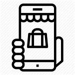 Icon Ecommerce Shopping Mobile Vectorified